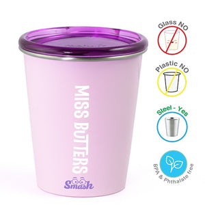 Buy Rabitat Stainless Steel Tumbler with Training Lid - Miss Butter - GiftWaley.com