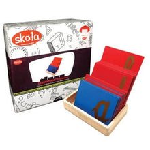 Load image into Gallery viewer, Buy Skola Sandpaper Cursive Letter Wooden Toy- GiftWaley.com