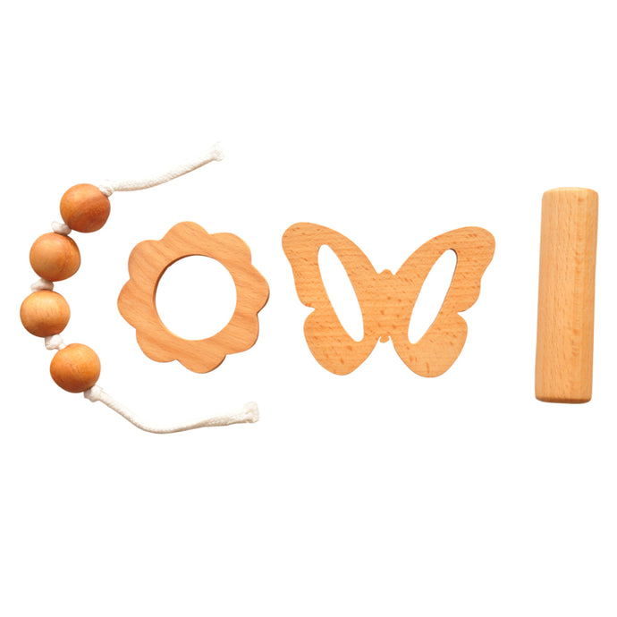 Buy Thasvi Montessori Baby Set With Teether And Rattle - Baby Set - GiftWaley.com