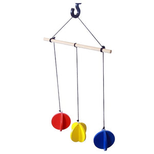 Thasvi Primary Colours Wooden Wind Chimes Mobile Toy