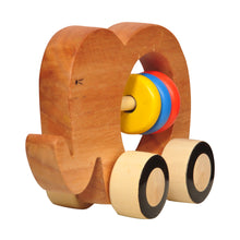 Load image into Gallery viewer, Buy Thasvi Wooden Elephant Push Toy - GiftWaley.com