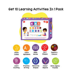 Toiing 10-in-1 Play and Learn Kit - 10 Educational Games & Activities