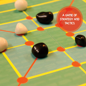 Toiing 2-in-1 Traditional Indian Fun Strategy Board Game -Pebbletoi