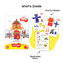 Load image into Gallery viewer, Toiing 3D DIY Paper Craft Kit - Craftoi Durga, Teach Kids About Festivals