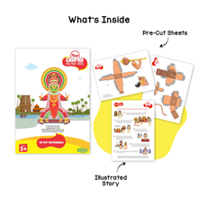 Load image into Gallery viewer, Toiing 3D DIY Paper Craft Kit - Craftoi Kathakali, Teach Kids About Festivals