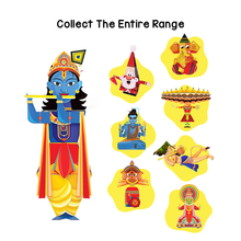 Load image into Gallery viewer, Toiing 3D DIY Paper Craft Kit - Craftoi Krishna, Teach Kids About Festivals