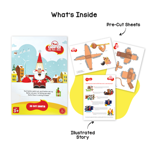 Toiing 3D DIY Paper Craft Kit - Craftoi Santa, Teach Kids About Festivals