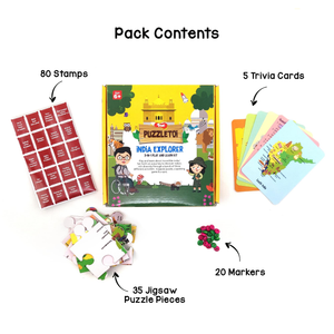 Toiing 3 in 1 Play and Learn Kit -Puzzletoi India Explorer