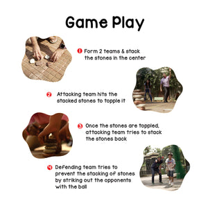 Toiing Classic Traditional Outdoor Game - Lagori Pitthu Satodiyu