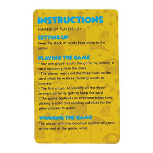 Toiing Educational Card Game - Rhyme Chime, Based On Vocabulary