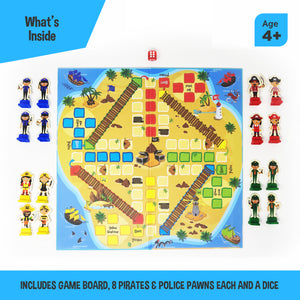 Toiing Ludotoi Ludo Board Game With A Caribbean Pirate & Police Theme