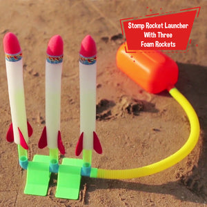 Toiing Triple Stomp Rocket - Rocketoi Fun Outdoor Toy