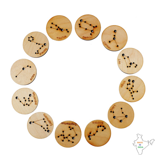 Buy Toyroom Little Star Gazers' Wooden Constellation Coins (12 Pieces) - GiftWaley.com