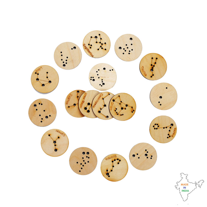 Buy Toyroom Little Star Gazers' Wooden Constellation Coins (17 Pieces) - Feature -  GiftWaley.com