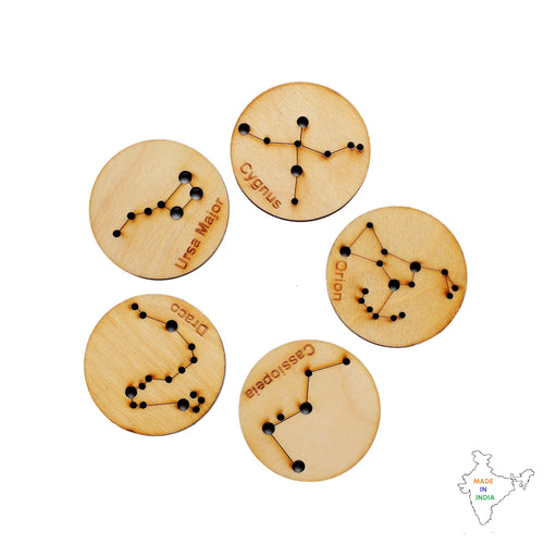 Buy Toyroom Little Star Gazers' Wooden Constellation Coins (5 Pieces) - How to play - GiftWaley.com