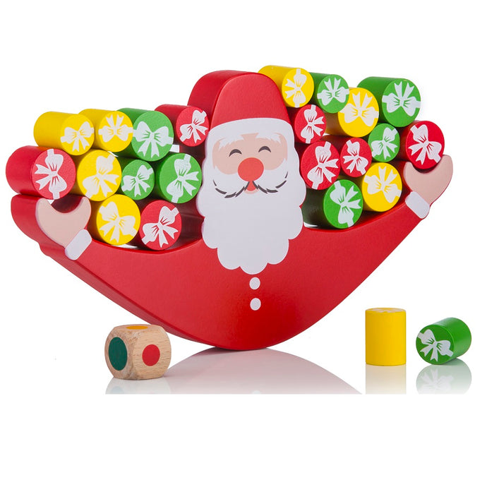 Buy Toyroom Wobbly Wooden Balancing Santa Game - happy festival - GiftWaley.com