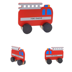 Wufiy 4 Wooden Vehicles Pretend Play Toy