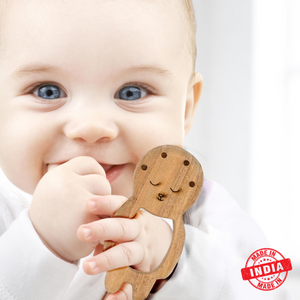 Wufiy Baby Shape Neem Wood Teether