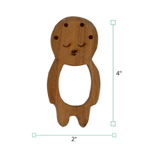 Load image into Gallery viewer, Wufiy Baby & Cloud Shape Neem Wood Teethers Glazed With Virgin Coconut Oil