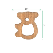 Load image into Gallery viewer, Wufiy Horse, Bear, Baby & Cloud Shape Neem Wood Teethers