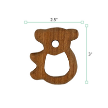 Load image into Gallery viewer, Wufiy Horse & Bear Shape Neem Wood Teethers Glazed With Virgin Coconut Oil