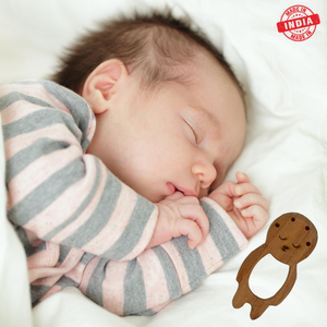 Wufiy Bear & Baby Shape Neem Wood Teethers Glazed With Virgin Coconut Oil