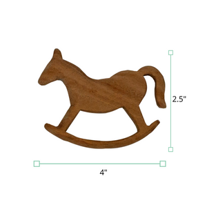 Wufiy Horse Shape Neem Wood Teether Glazed With Virgin Coconut Oil