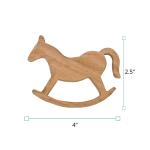 Wufiy Horse, Bear, Baby & Cloud Shape Neem Wood Teethers
