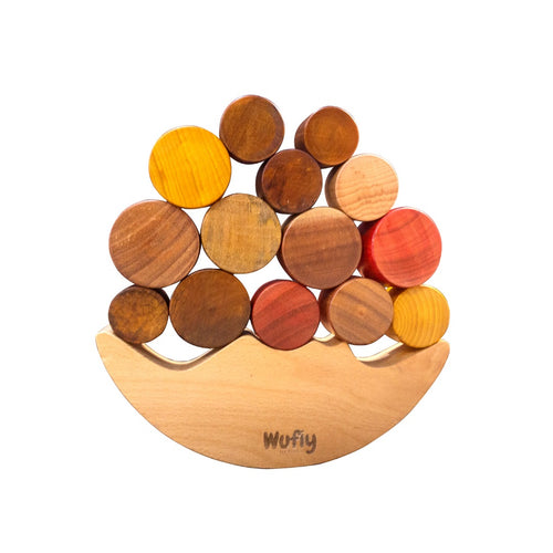 Buy Wufiy Moon Balancing Wooden Toy - GiftWaley.com