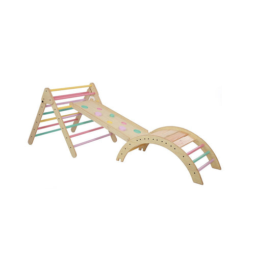 Buy Ariro Pikler Triangle and Pikler Climbing Arch - Semi Coloured - GiftWaley.com