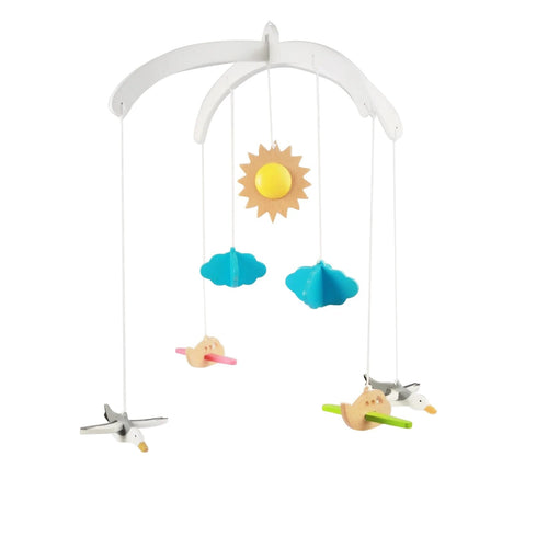 Buy Ariro Seagulls and Planes Wooden Mobile Toy - GiftWaley.com