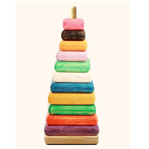 Buy Ariro Wooden Giant Stacking Toy - Coloured - GiftWaley.com