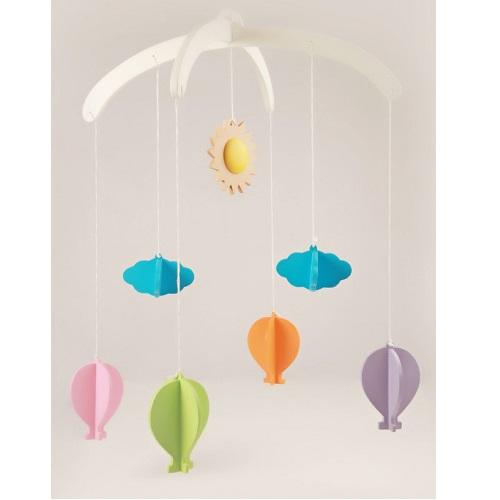 Buy Ariro Wooden Mobile Hot Air Balloons - GiftWaley.com