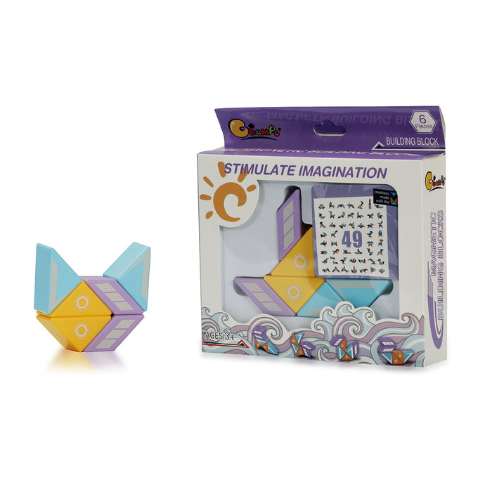 Buy Bloomy Brain Magnetic Building Blocks Puzzle Game - 6Pcs - GiftWaley.com