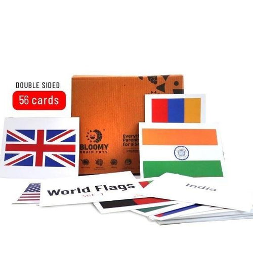 Buy Bloomy Brain World Flags Flash Cards - Set 1 - GiftWaley.com
