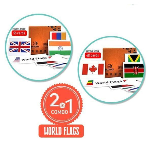 Buy Bloomy Brain World Flags Flash Cards - Set 1 and Set 2 - GiftWaley.com