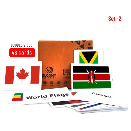 Buy Bloomy Brain World Flags Flash Cards - Set 2 - GiftWaley.com