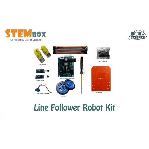 Buy Box of Science Line Follower Robot Kit - GiftWaley.com