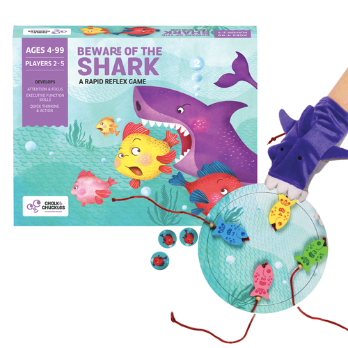 Buy Chalk & Chuckles Beware of Sharks Focus Board Game - GiftWaley.com