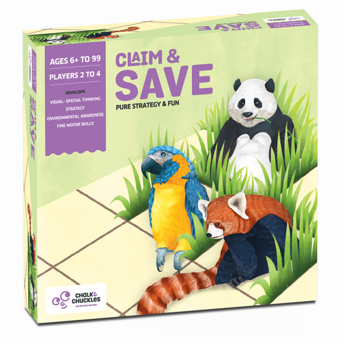 Buy Chalk & Chuckles Claim and Save Strategy Board Game - GiftWaley.com
