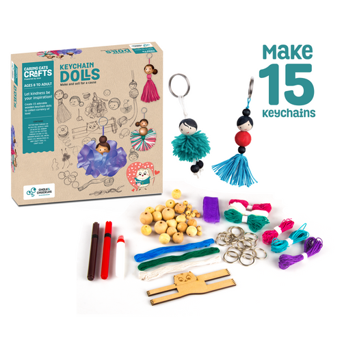 Buy Chalk & Chuckles Keychain Dolls Activity Game - GiftWaley.com