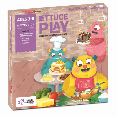 Buy Chalk & Chuckles Lettuce Matching and Memory Bingo Board Game - GiftWaley.com