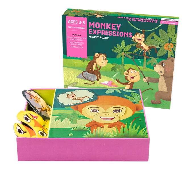 Buy Chalk & Chuckles Monkey Expression Feelings Puzzle Game - GiftWaley.com
