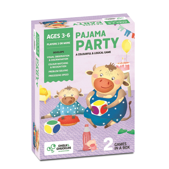 Buy Chalk & Chuckles Pajama Party Logical Cards Game - GiftWaley.com