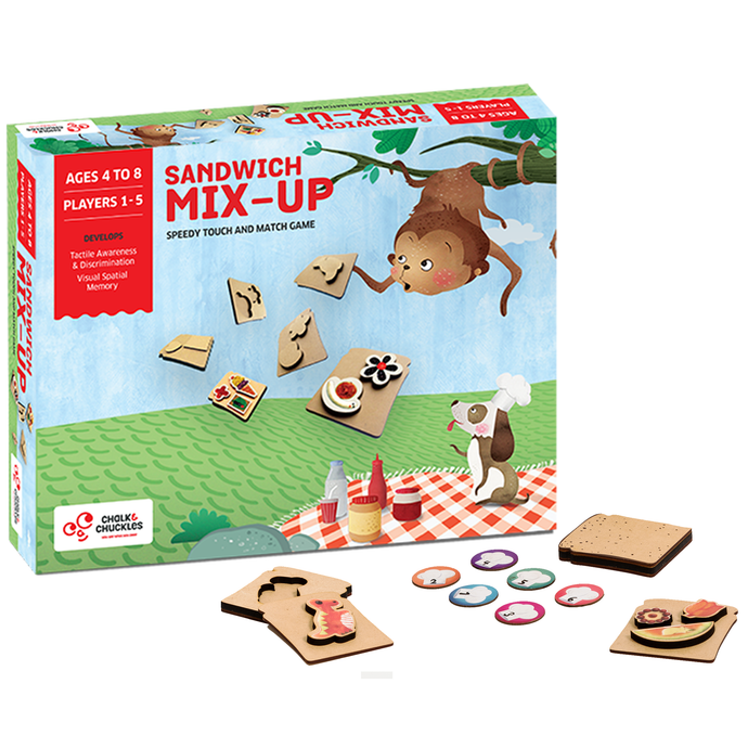 Buy Chalk & Chuckles Sandwich Mixup Match Puzzle Game - GiftWaley.com