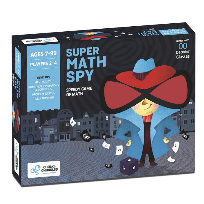Buy Chalk & Chuckles Super Math Spy Cards Game - GiftWaley.com