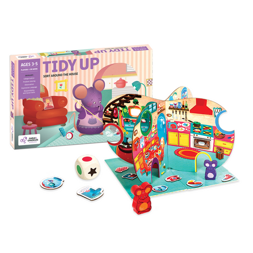 Buy Chalk & Chuckles Tidy Up House Soring Board Game - GiftWaley.com