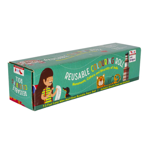 Buy CocoMoco Explore India Colouring Roll Kit - GiftWaley.com