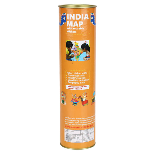 Buy CocoMoco India Map With Sticker Educational Toy - GiftWaley.com