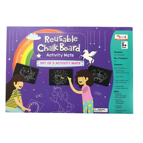 Buy CocoMoco Unicorn Chalk Board Activity Game - GiftWaley.com